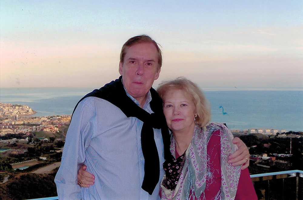 Tasker with wife Katherine<br /> Ceuta - North Africa